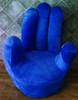 Blue hand chair
