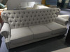 Gray Classic fabric sofa 3 Seat one set only