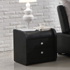 Bedside table black PU leather Violet