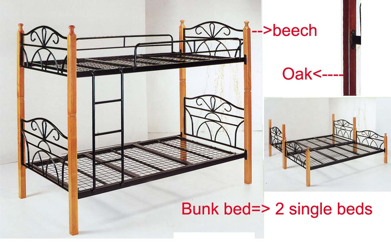 Bunk Bed Convert To 2 King Single Frame