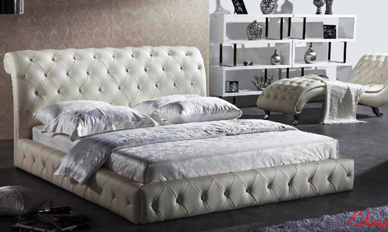 . Leather bed King size Diamond