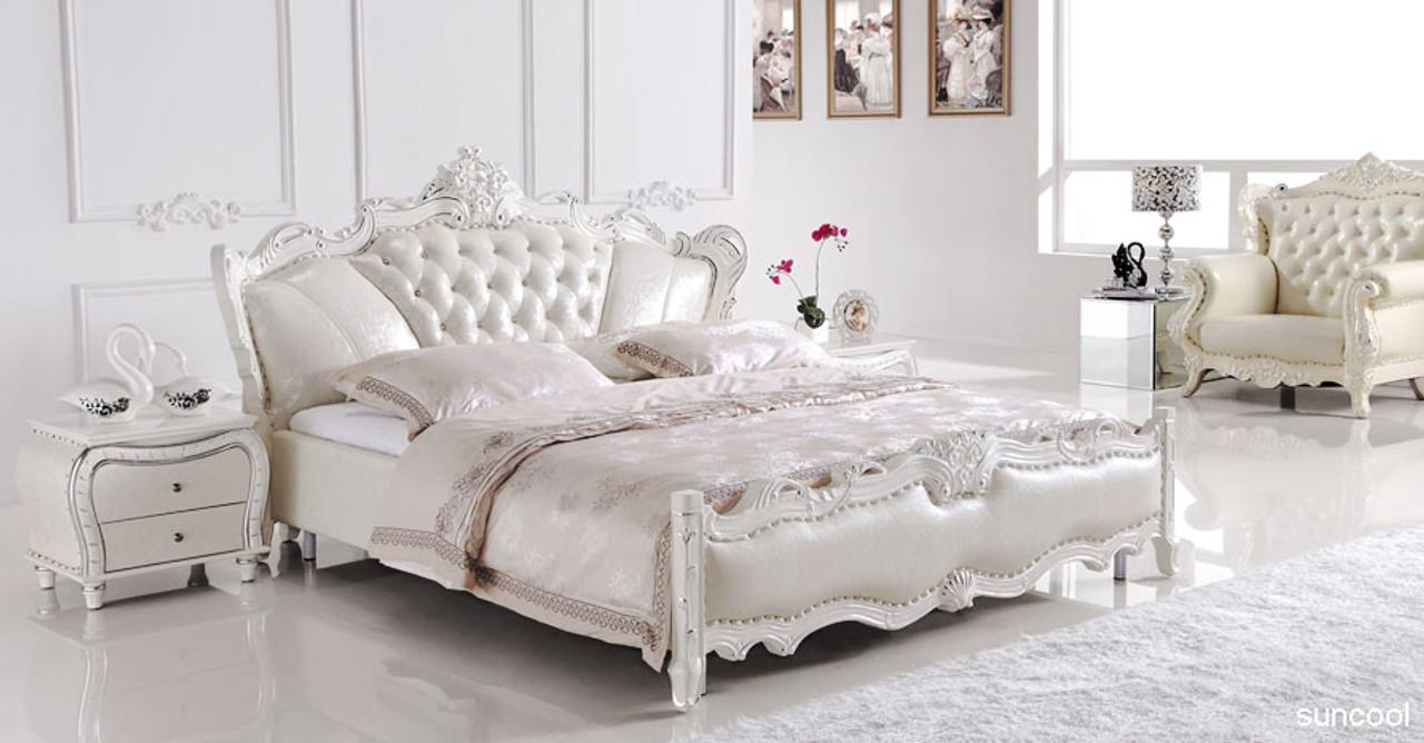 Picture of: Europe Style Leather King Size Bed Luxury But Affortable Furniture