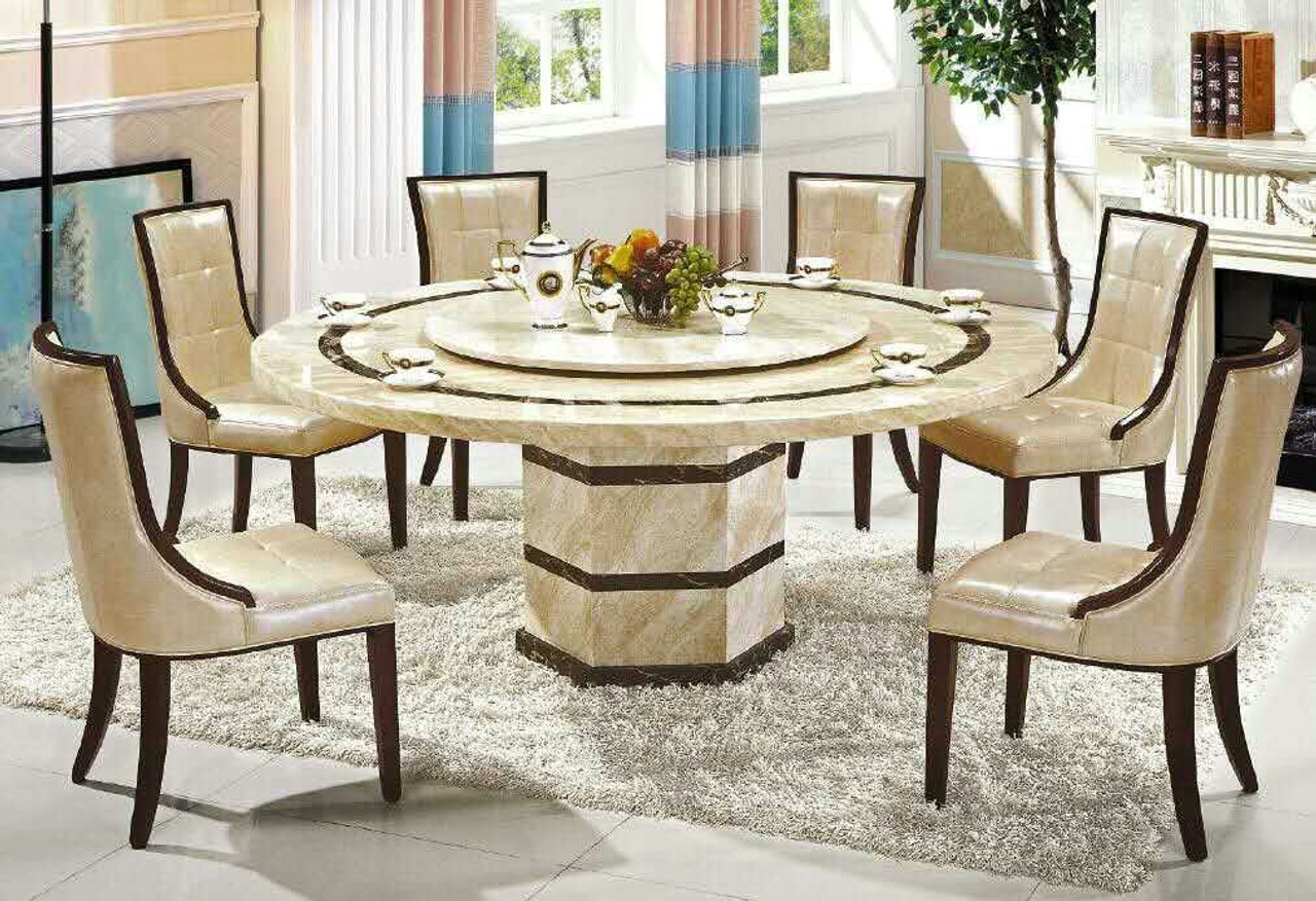 Cheap Round Marble Dining 1 Table And 6 Chairs Warehouse