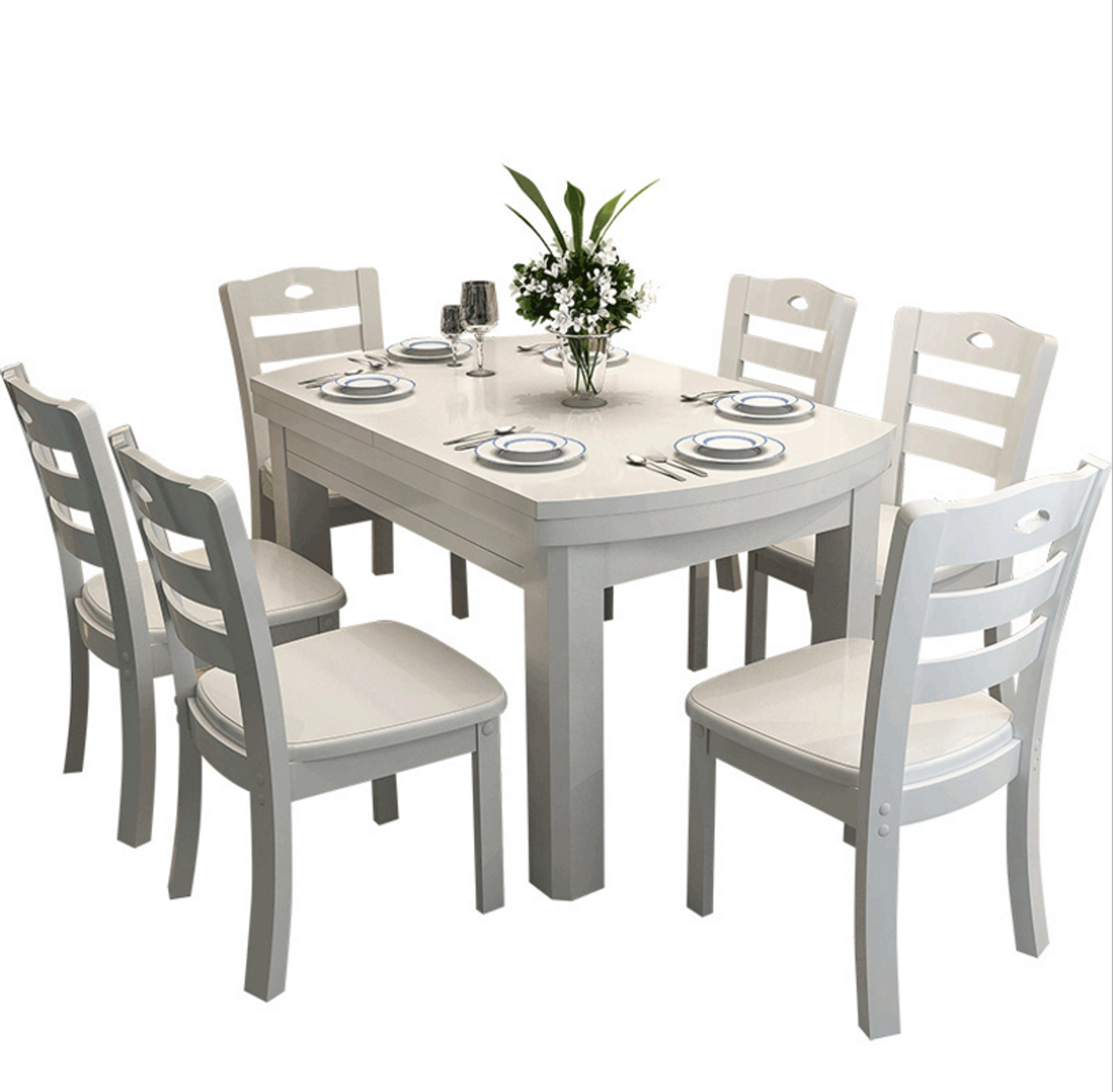 Wodden Dining 1 Table And 6 Chairs Warehouse Direct Bargain