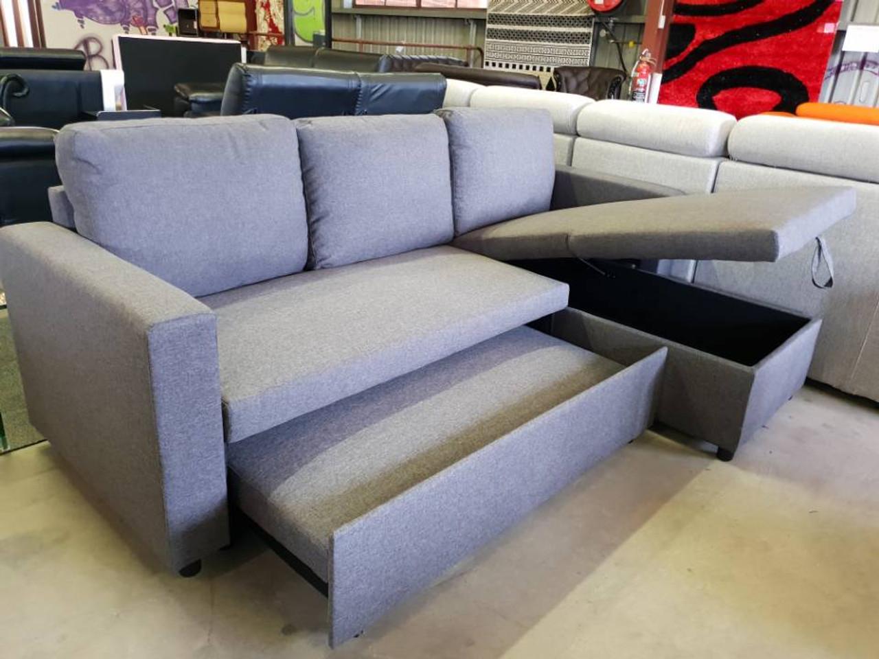 fabric gas lift storage sofa bed e cheap a furniture sydney rh afurniture com au