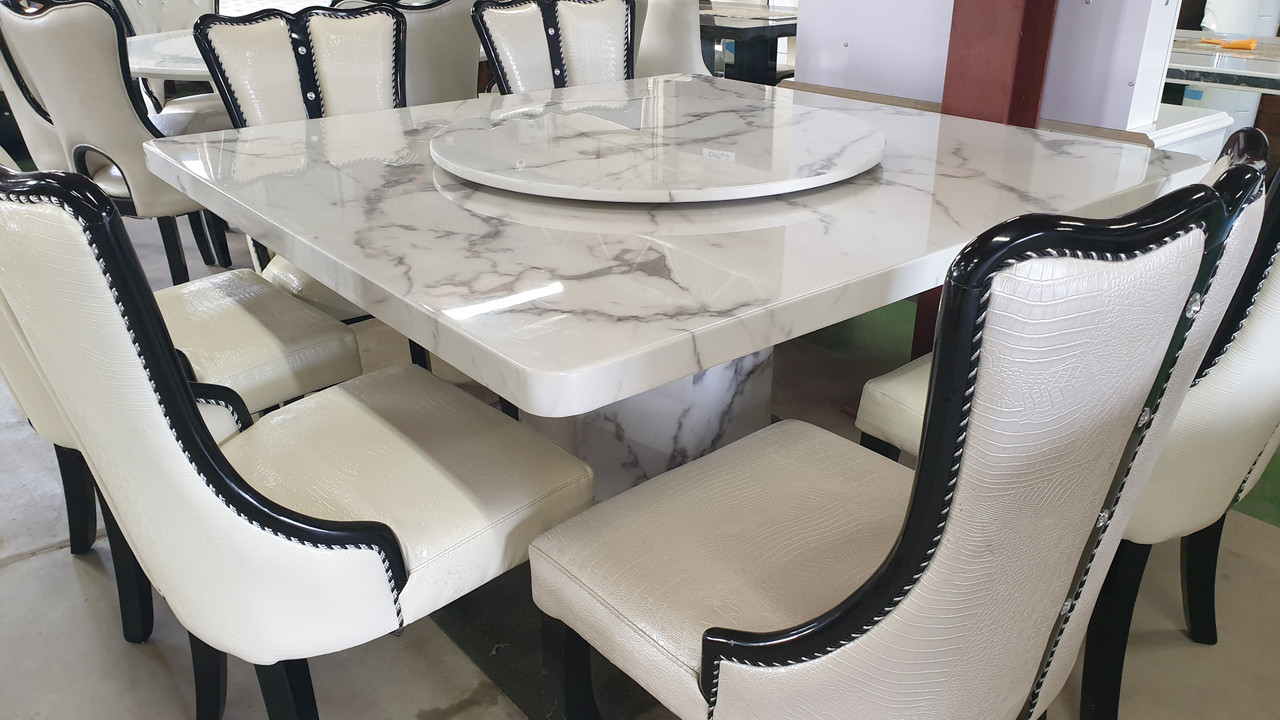 Cheap Square 140 By 140 Marble Dining With 8 Dining Chairs Warehouse Direct Bargain