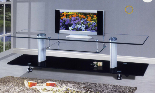 1.6 meter Glass TV LCD entertainment cabinet