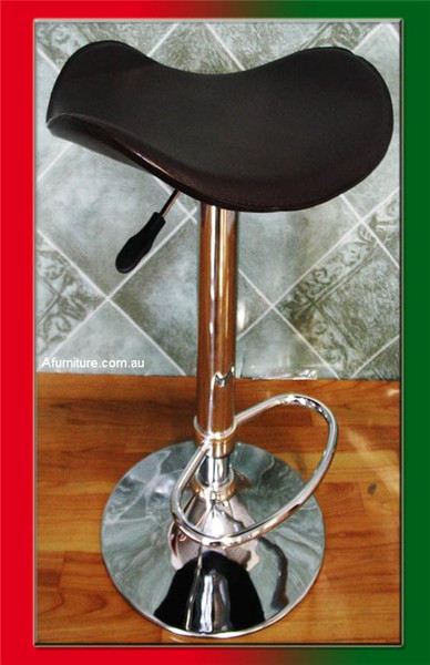 Black saddle bar stool