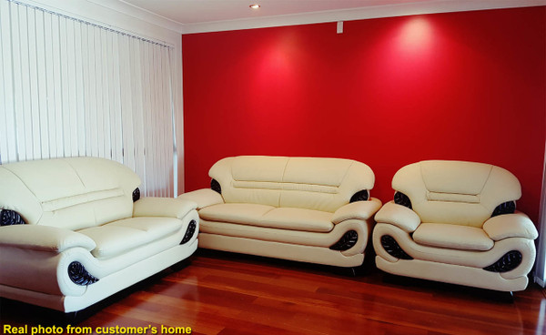 Cheap leather 3+2+1 lounges in Sydney