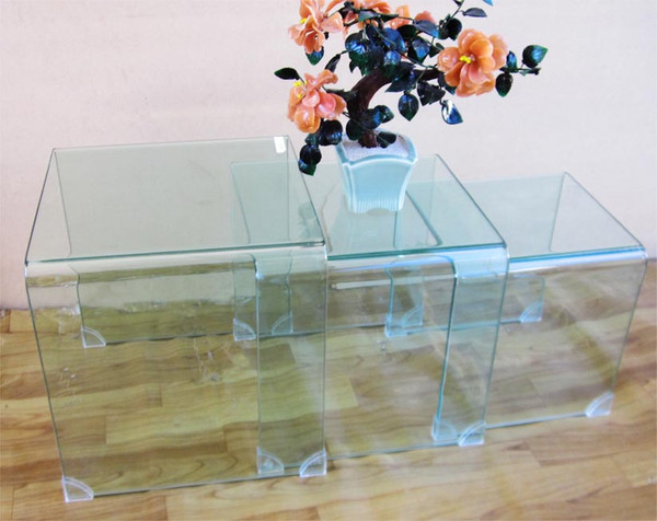 3 pieces glass coffee table