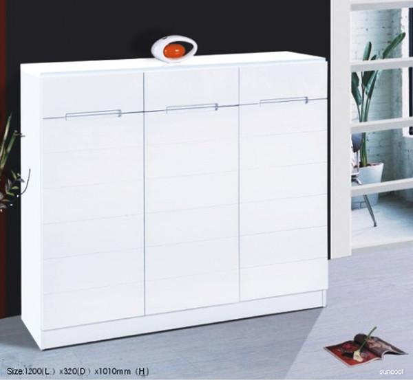 gloss white shoes cabinet racket