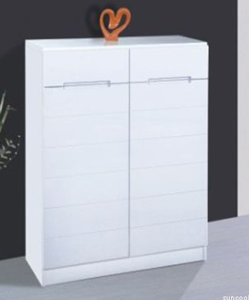 white 2 doors shoes cabinet
