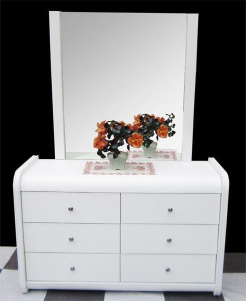 White leather dresser