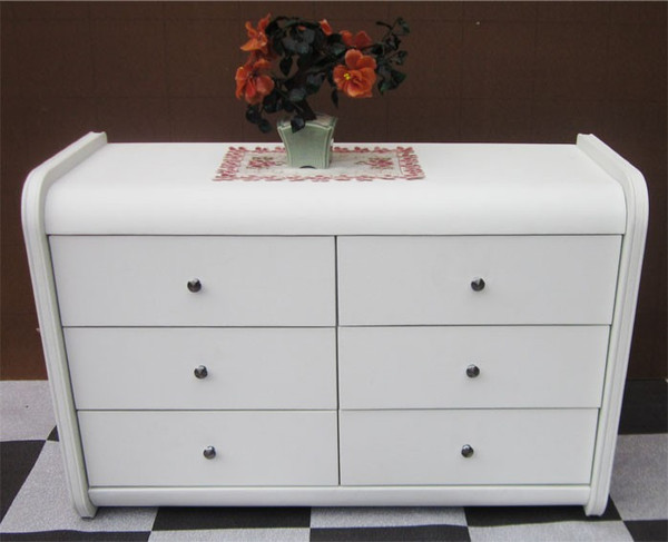 Full white Leather look dressing table