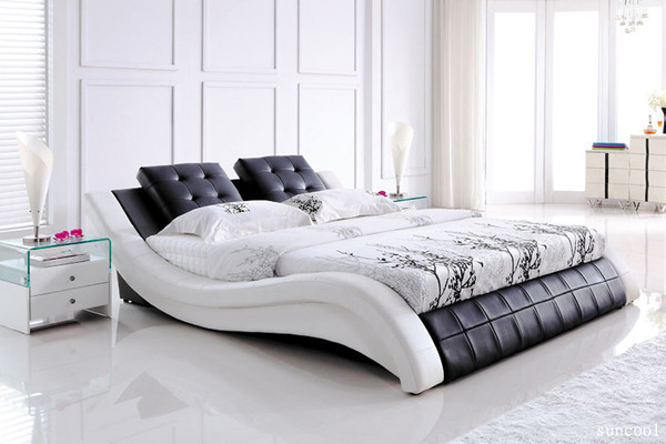 Leather bed king size