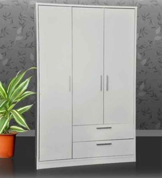White Wardrobe with 3 doors