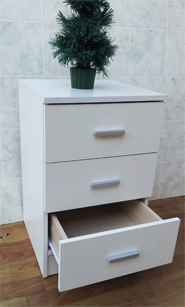 Narrow Bedside table with 3 drawers