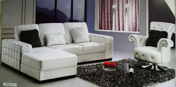 """Corner lounges+arm chair with """"diamond"""""""