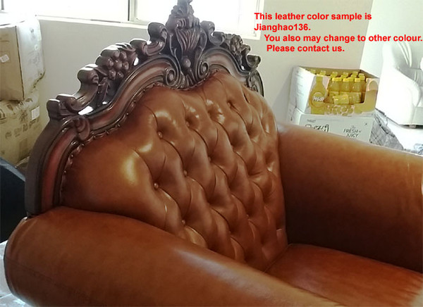 luxury Euro classic leather 3+2+1 lounges