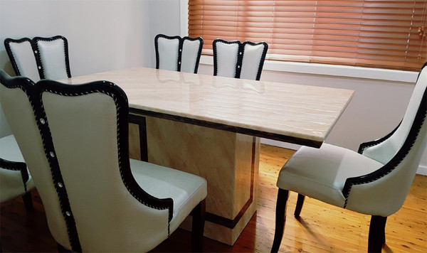 marble stone  dining table set