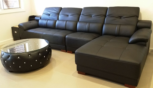 black corner lounges