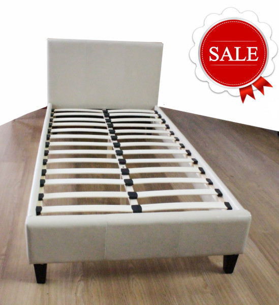 Single cream bed frame