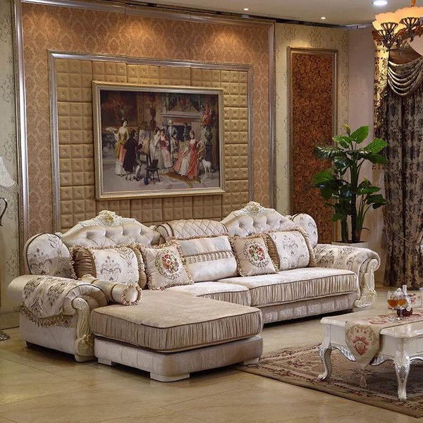 Classic fabric lounges sofa