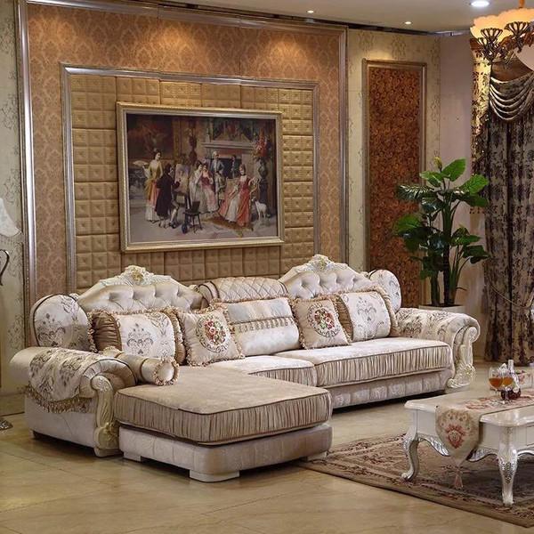 Classic fabric lounges sofa