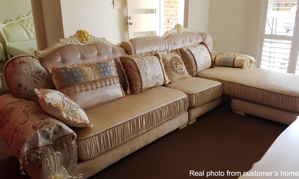 Convertible chaise Delux fabric lounges