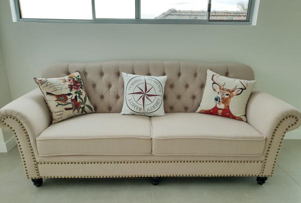 Classic Linen 3 seats fabric lounge