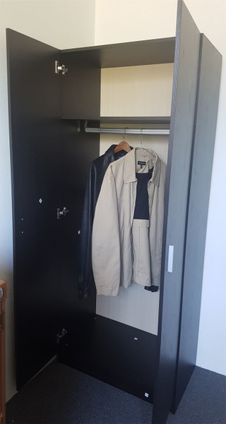 cheap 2 door hanging robe