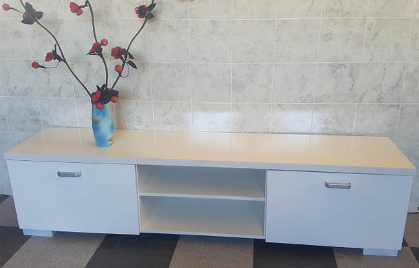 cheap white tv unit