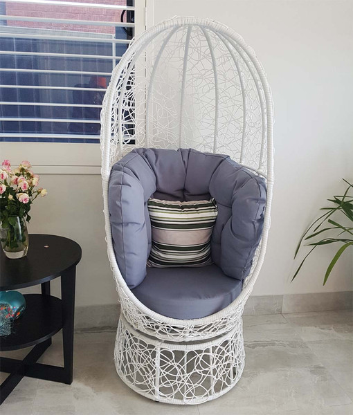 Rattan egg chair LAST floor one