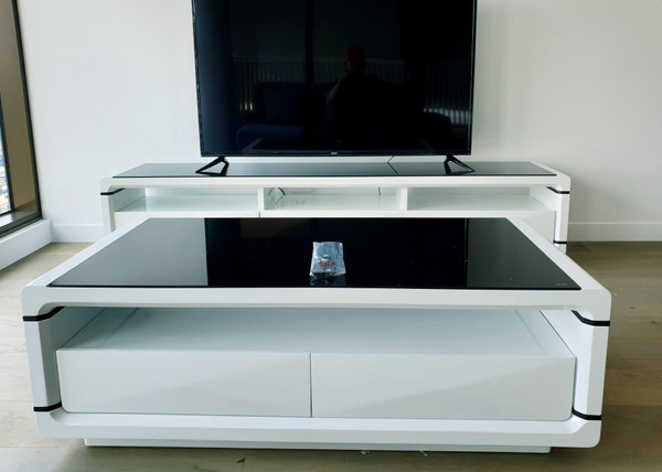 2 Meters lowline TV unit+ coffee table