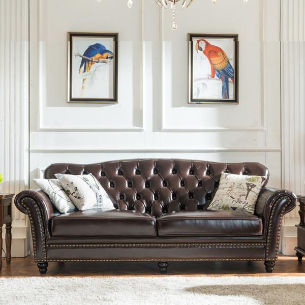 Single 3 seats Leather Classic lounge