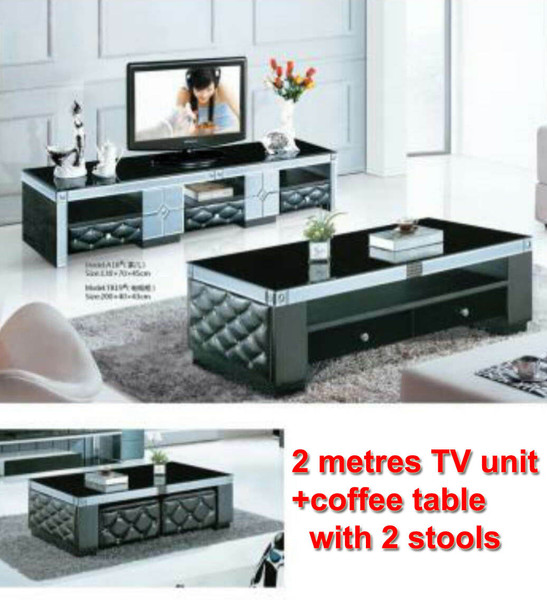 Cheap TV unit and coffee table set