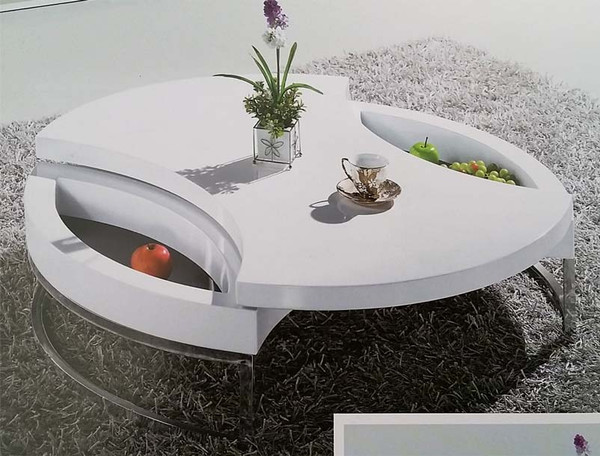 Round white Coffee Table