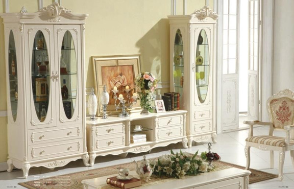 Europe style TV unit and displaying combination cabinet