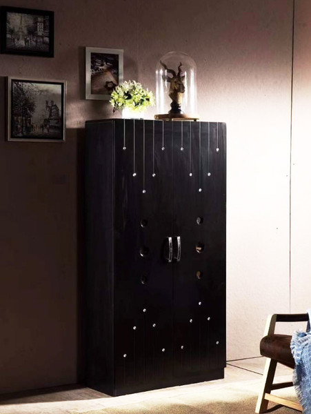 Black high shoes cabinet