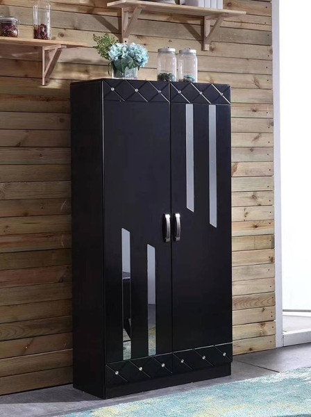 Black modern shoes cabinet