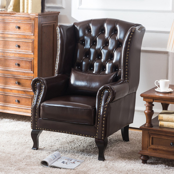 """Leather look  tub visitor chair """"Tiger""""+ Stool"""