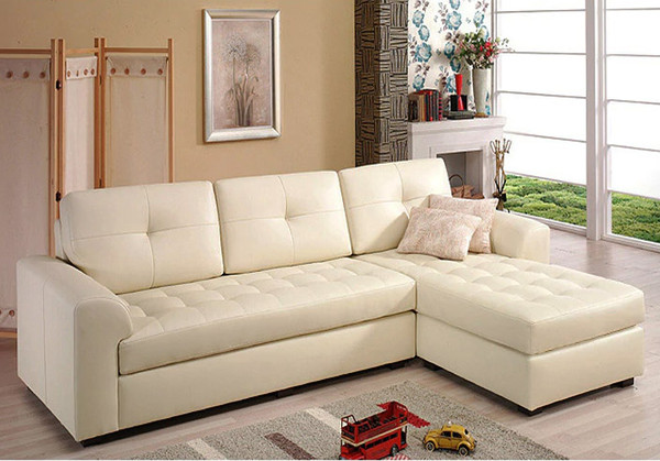L shaped modern REAL leather living room sofa 2.78M