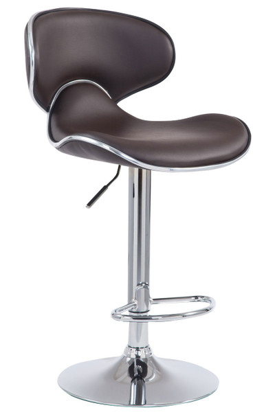 Adjustable Swivel Medium curved  bar stool BLACK
