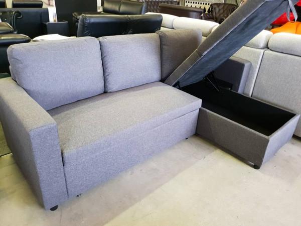 Fabric gas lift storage Sofa bed
