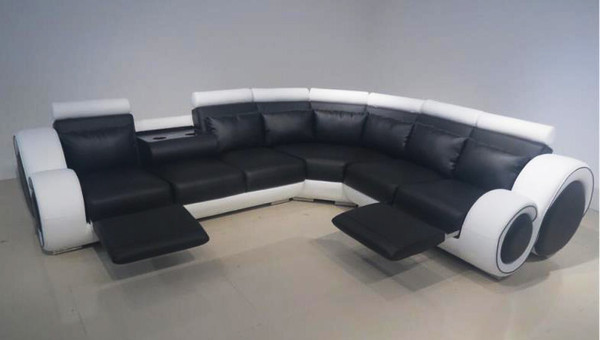White black recliner lounges