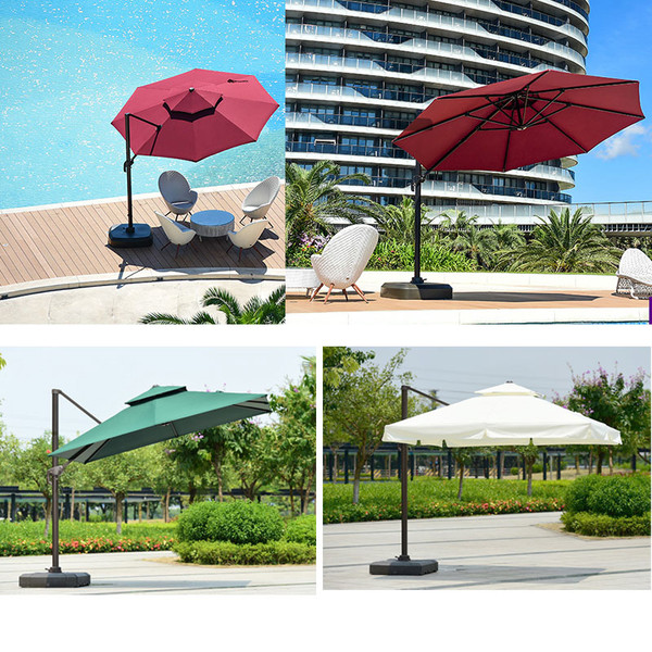 Large Outdoor Luxury Patio Durable Roman Umbrella