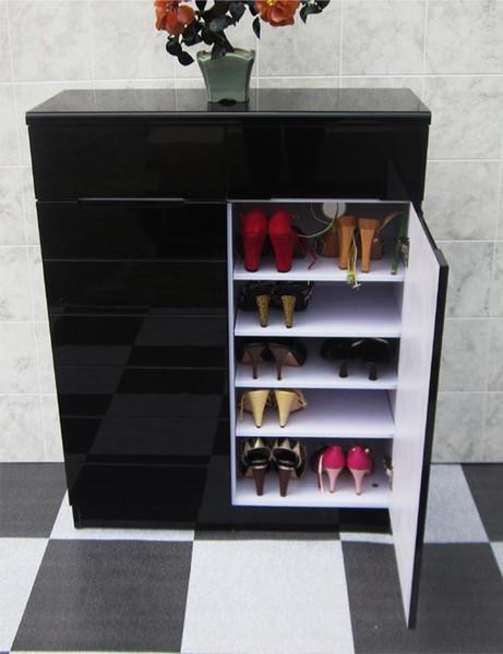 S280 black 2 doors shoes cabinet