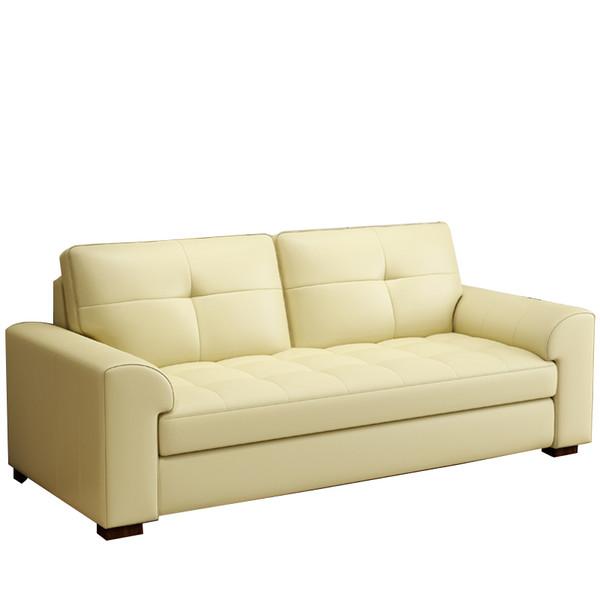 Cream PVC 2 Seat Sofa (TJR05-009) LAST one special