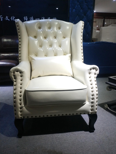 """Durable Simulation Leather look  tub visitor chair """"Tiger"""" (TJLH-011)"""