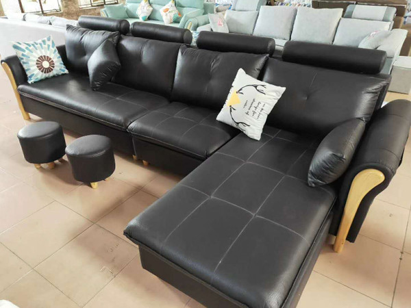 Leath-aire fabric sofa revertible chaise convertible 340*170cm